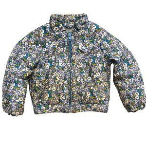 Baby Gap Floral Print Puffer Jacket